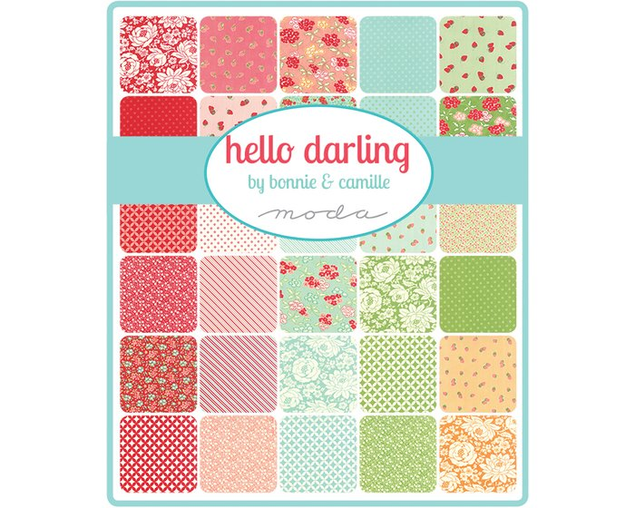 Patchworkstoff HELLO DARLING, Kreuz-Ovale, orange