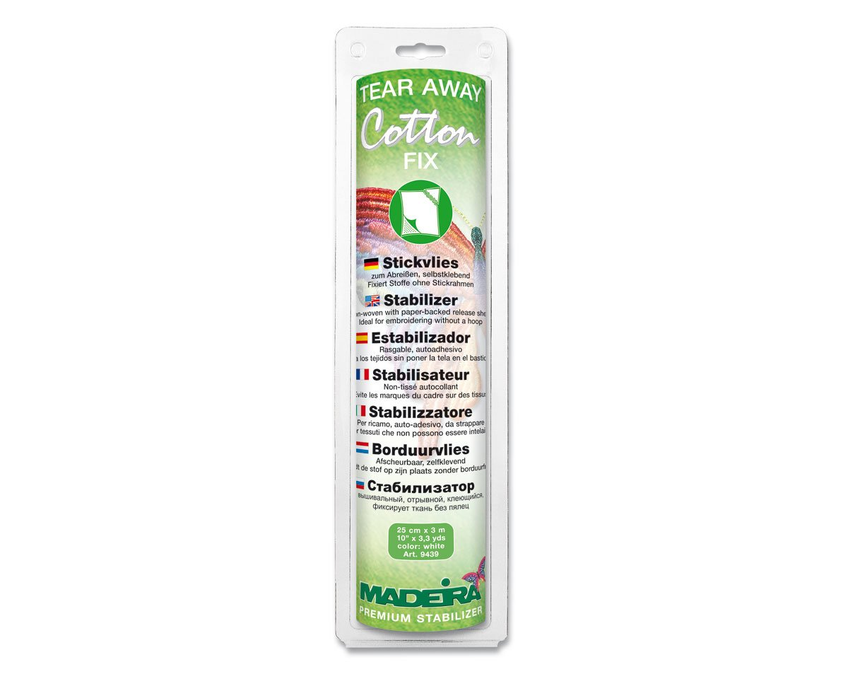 Reißvlies 50 lfm Madeira EZEE Cotton Soft Stickvlies Vlies 50 g//m² 30 cm breit