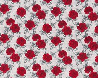 Patchworkstoff AND SEW ON, Rosen, rot-hellgrau