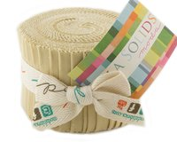 Precuts Junior Jelly Roll BELLA SOLIDS, 6 x 110 cm, 20 Streifen, sandfarben