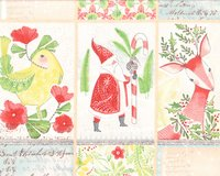 30-cm-Rapport Patchworkstoff I LOVE CHRISTMAS,...