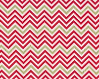 Patchworkstoff REMIX, schmale Chevron-Zacken, rot-gold