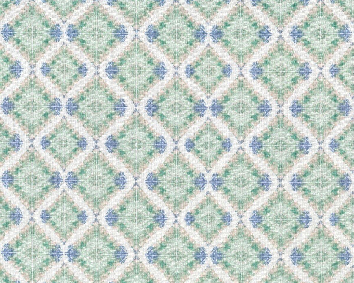 patchworkstoff sweet siesta ornament fliesen schilfgr n taubenblau. Black Bedroom Furniture Sets. Home Design Ideas