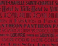 Patchworkstoff I DREAM OF PARIS, Schrift, rot-schwarz
