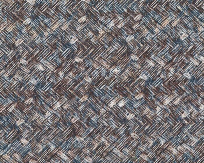 Viskose-Jersey AMANDA, Diagonal-Flechtmuster, braun-grau