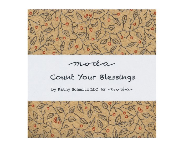 Precuts Charm Pack COUNT YOUR BLESSINGS, 12,5 x 12,5 cm, 42 Quadrate