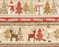 30-cm-Rapport Patchworkstoff HOLIDAY STITCHES, Let it...