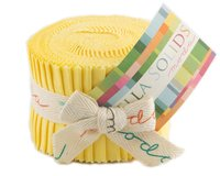 Precuts Junior Jelly Roll BELLA SOLIDS, 6 x 110 cm, 20 Streifen, pastellgelb
