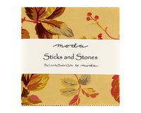 Precuts Charm Pack STICKS AND STONES, 12,5 x 12,5 cm, 42...