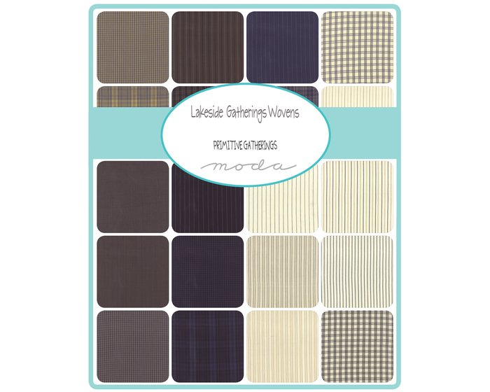 Feiner Patchwork-Flanell-Webstoff LAKESIDE GATHERINGS WOVENS, Glencheck-Karo, schwarz
