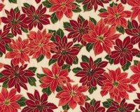 Metallic-Patchworkstoff HOLLY NIGHT METALLIC, Weihnachtsstern,...