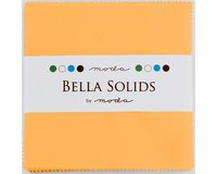 Precuts Charm Pack BELLA SOLIDS, 12,5 x 12,5 cm, 42 Quadrate, gedecktes orange