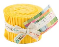 Precuts Junior Jelly Roll BELLA SOLIDS, 6 x 110 cm, 20 Streifen, maisgelb