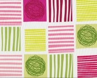Patchworkstoff TWIST STYLE, Muster-Quadrate, pink-helles apfelgrün