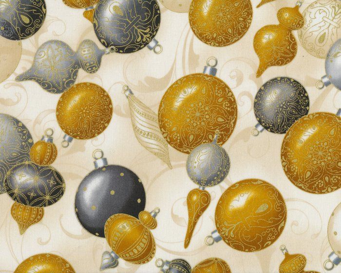 Christbaumkugeln Braun Creme.Metallic Patchworkstoff Winter S Grandeur Christbaumkugeln Goldbraun Grau Gold Metallic