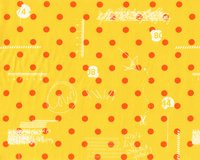 Patchworkstoff HEY DOT, Polka Dots und Skizzen, gelb-orange