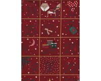 60-cm-Patchworkstoff-Abschnitt, Adventskalender CHRISTMAS FOR FRIENDS,...