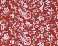 Patchworkstoff Vintage Groove mit Paisley-Blüten, rostrot