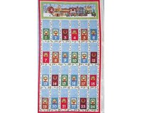 60-cm-Rapport Patchworkstoff All around the Town, Paneel mit Adventskalender,...