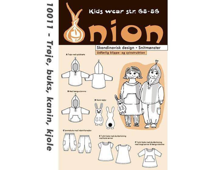 Pullover, Hose, Kleid und Kuschel-Hase, Schnittmuster ONION 10011