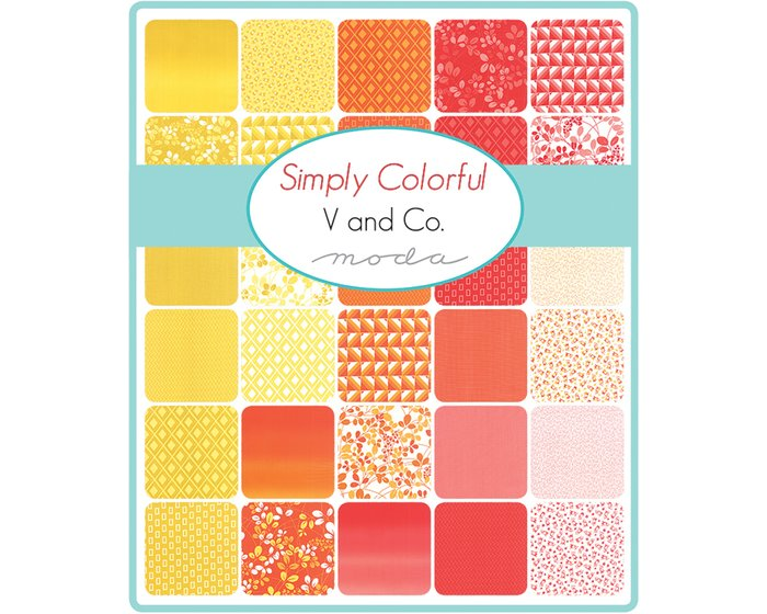 Patchworkstoff SIMPLY COLORFUL, Rautenmuster, orange-dunkles orange