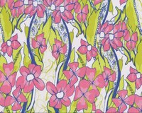 Patchworkstoff FEATHER FLOCK, Blumenranken,...