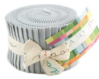 Precuts Junior Jelly Roll BELLA SOLIDS, 6 x 110 cm, 20 Streifen, hellgrau