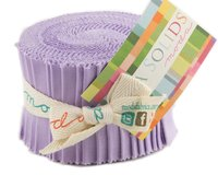 Precuts Junior Jelly Roll BELLA SOLIDS, 6 x 110 cm, 20 Streifen, lavendel