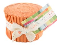 Precuts Junior Jelly Roll BELLA SOLIDS, 6 x 110 cm, 20 Streifen, dunkles aprikot