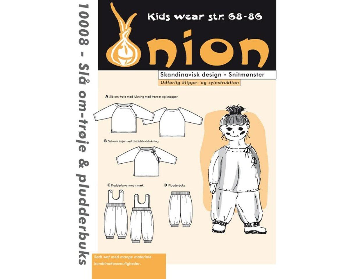 Wickelhemd und Pluderhose, Schnittmuster ONION 10008