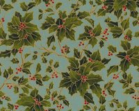 Metallic-Patchworkstoff HOLLY NIGHT METALLIC, Ilex, moosgrün-stumpfes...