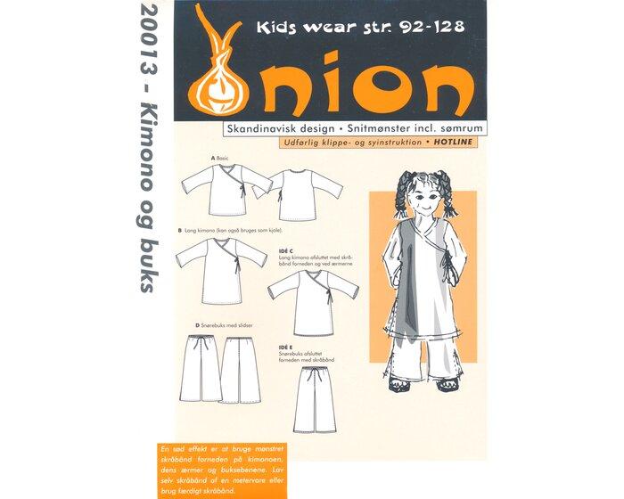 Kimono und weite Hose, Schnittmuster ONION 20013