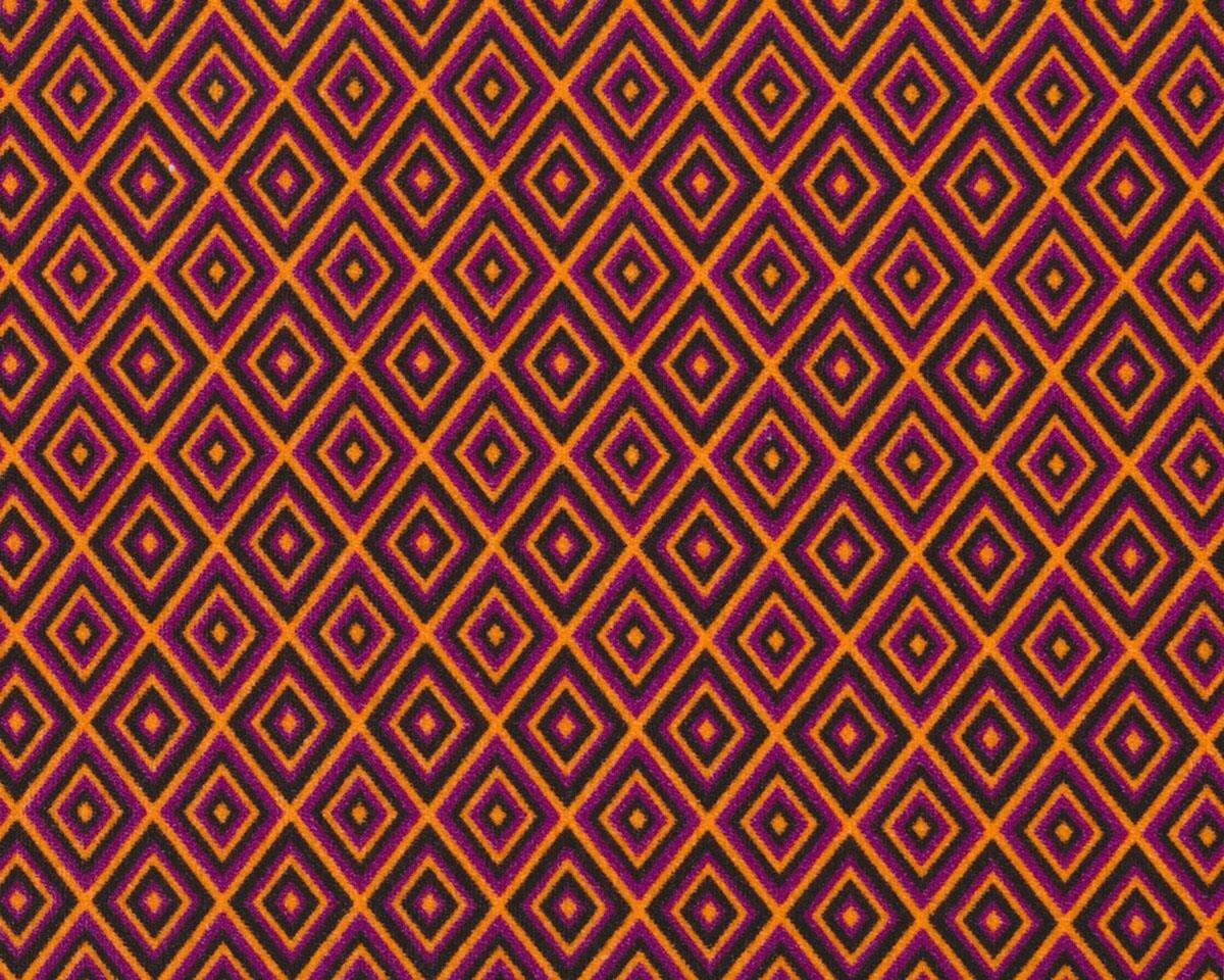 designer baumwoll velour aus italien mit stretch matrix rauten orange fuchsia. Black Bedroom Furniture Sets. Home Design Ideas