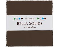Precuts Charm Pack BELLA SOLIDS, 12,5 x 12,5 cm, 42 Quadrate, braun