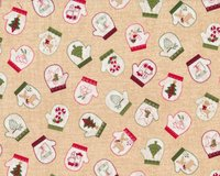 Patchworkstoff WRAPPED IN JOY, Handschuhe,...