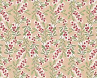 Patchworkstoff MERRY STITCHES, Ilex-Ranken, beige