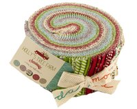 Precuts Jelly Roll HOLLYS TREE FARM, 6 x 110 cm, 40 Streifen
