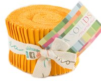 Precuts Junior Jelly Roll BELLA SOLIDS, 6 x 110 cm, 20 Streifen, gedecktes...