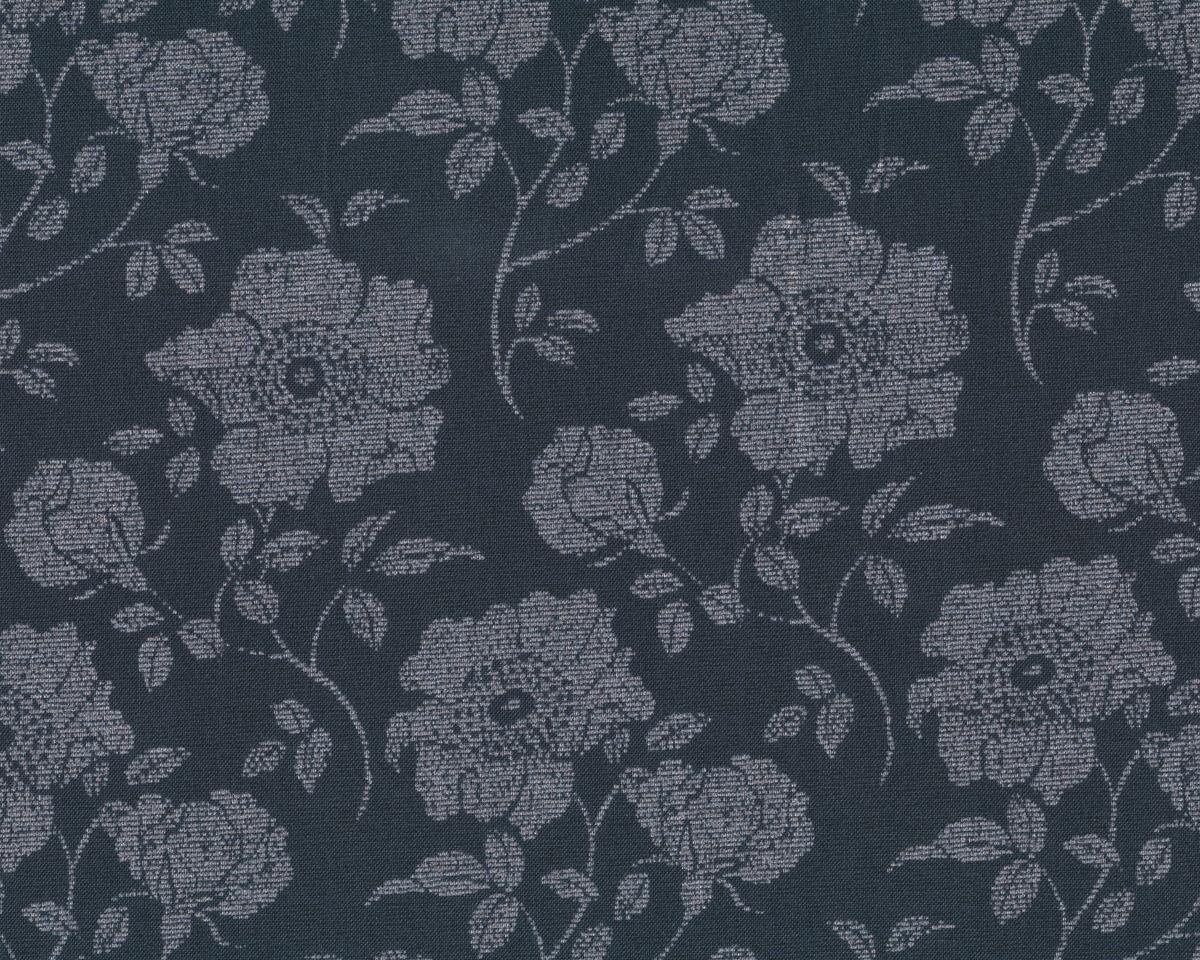 patchworkstoff shimmer rosen auf rastergrund anthrazit altsilber metallic. Black Bedroom Furniture Sets. Home Design Ideas