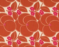 Patchworkstoff HAPI HEART BLOOM, Herzblumen, terracotta-fuchsia