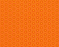 Popeline-Patchworkstoff OVAL ELEMENTS, Pfauenaugen-Ovale, orange-helles orange