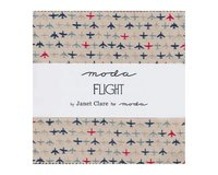 Precuts Charm Pack FLIGHT, 12,5 x 12,5 cm, 42 Quadrate