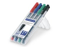 4er-Set Folienstift permanent LUMOCOLOR SET, Staedtler...
