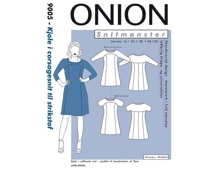 Kleid im Corsagen-Schnitt PLUSGRÖSSE, Schnittmuster ONION 9005