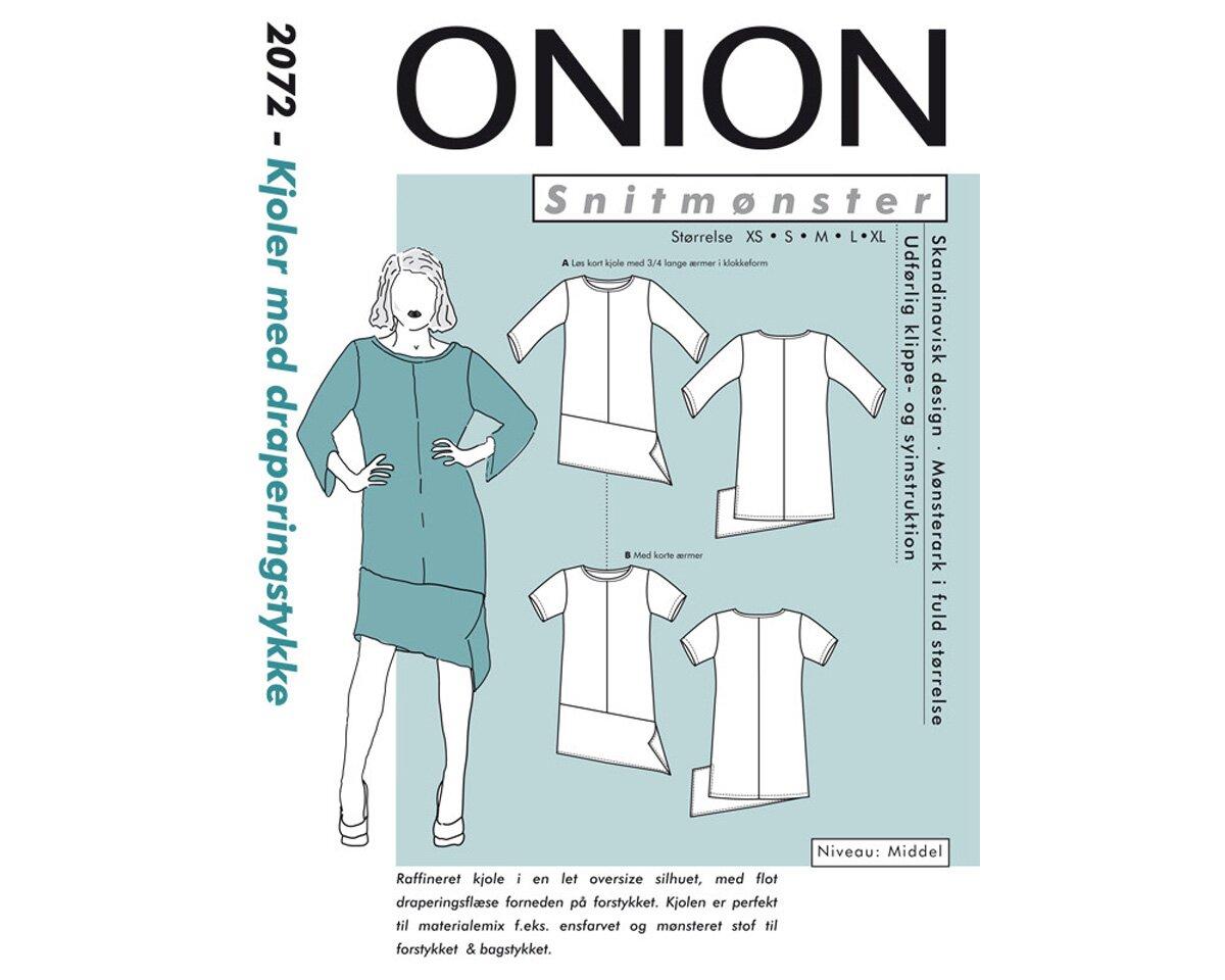 Asymmetrisches Kleid, Schnittmuster ONION 2072