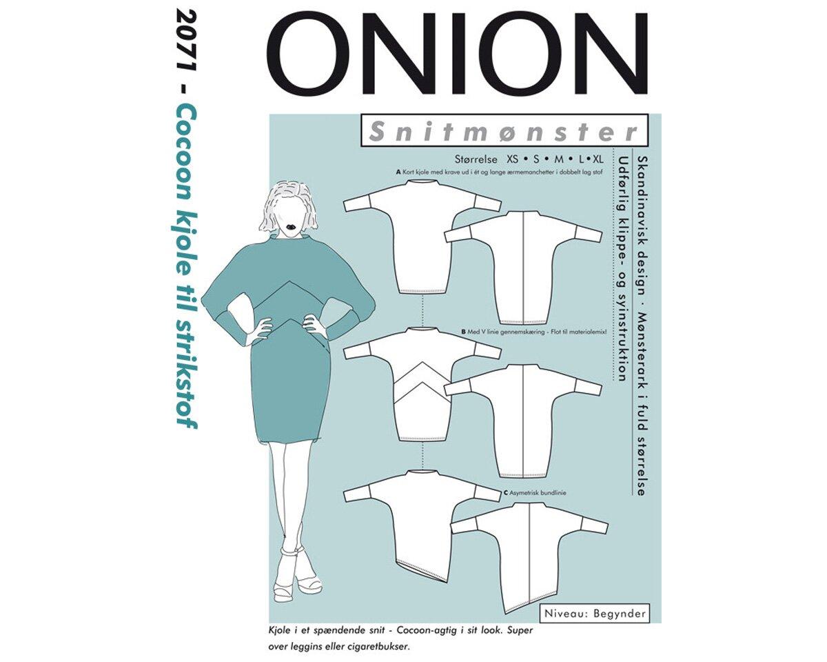 Cocoon-Kleid aus Jersey, Schnittmuster ONION 2071