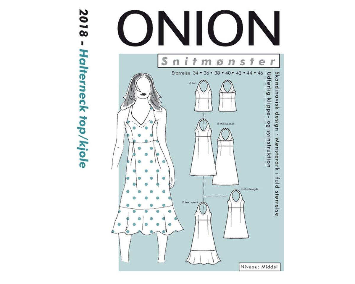 Neckholder-Kleid und Top, Schnittmuster ONION 2018