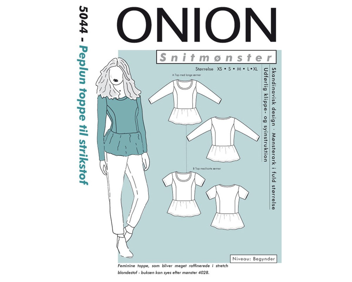 Shirt mit Schößchen, Schnittmuster ONION 5044