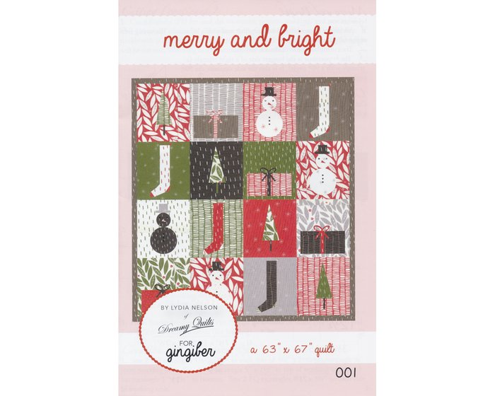 Patchwork-Anleitung MERRY AND BRIGHT, Weihnachts-Quilt