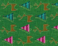 Metallic-Patchworkstoff MERRY LITTLE CHRISTMAS, Rentiere und Tannen,...